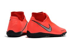 Chuteira  Society Nike Phantom Vision Academy Orange Profissional - Sport Shoes