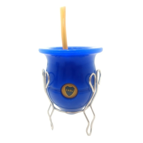 Mate + Bombilla + Disco Autolimpiante Futbol Ideal Regalo