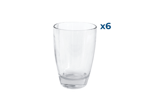 Set x6 Vasos Durax 400 Ml  Pampa