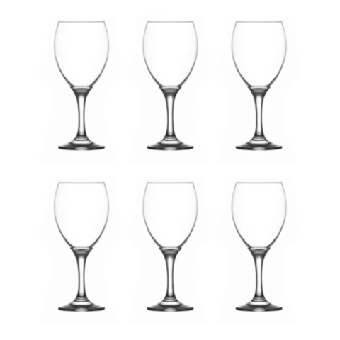 Set X12 Copas De Vino Empire 240 Ml Vidrio Eventos Copa