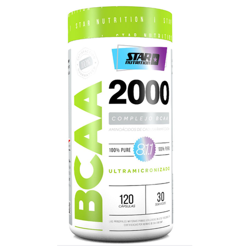 BCAA 2000 120 Caps - STAR NUTRITION
