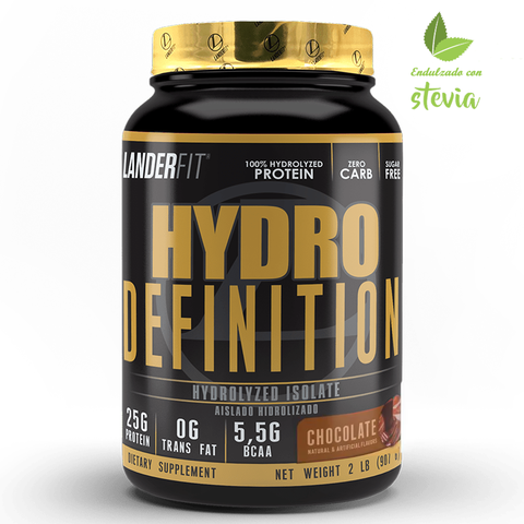 Hydro Definition 2 Libras Landerfit Proteína Isolate e Hydrolyzed Con Stevia