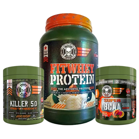 Combo Fitwhey Protein + Bcaa 5000 + Killer 5.0 - Generation fit