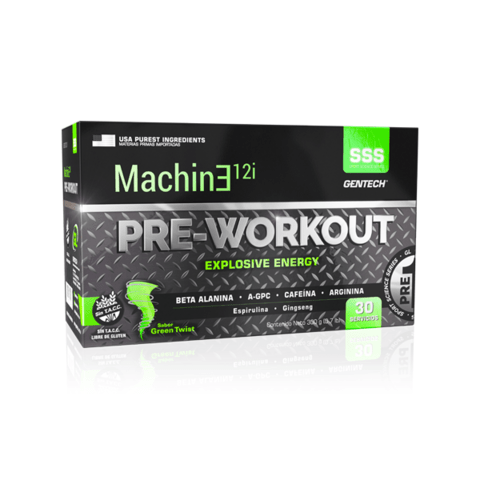 Machine 12i PRE-WORKOUT 30 sobres - Gentech