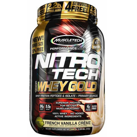 NITRO TECH 100% WHEY GOLD 2,2 Lbs - MUSCLETECH