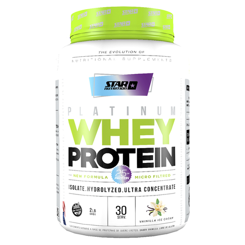 PLATINUM WHEY PROTEIN 2 LBS -STAR NUTRITION