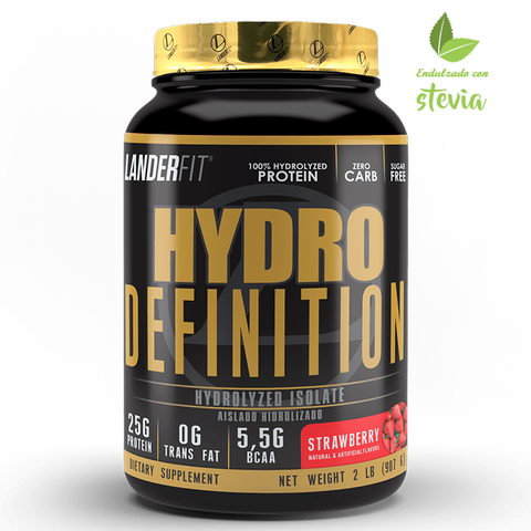 Hydro Definition 2 Libras Landerfit Proteína Isolate e Hydrolyzed Con Stevia - comprar online