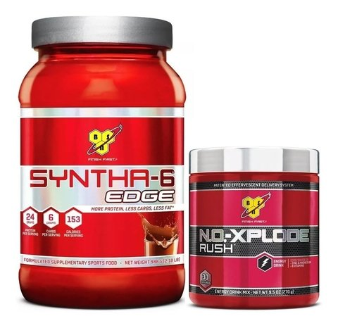 SYNTHA 6 EDGE 2 Lbs. + NO XPLODE RUSH 30 Sv - BSN
