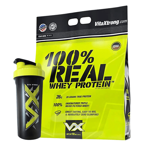 100% Real Whey Protein 10lbs + Shaker - Vita Xtrong