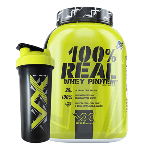 100% Real Whey Protein 5lbs + Shaker - Vita Xtrong