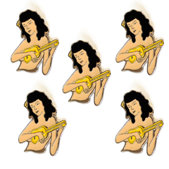 Pin Chica Ukelele - comprar online