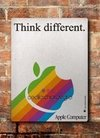 Chapa rústica Apple Think different