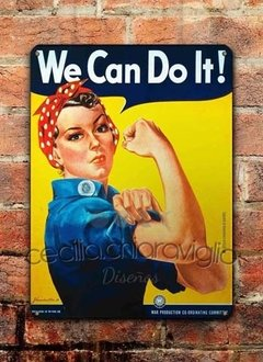 Chapa rústica We Can Do It! - comprar online