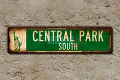 "Chapa calles New York ""Central Park South"" - comprar online"