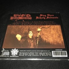 Wind of the Black Mountains - Sing Thou Unholy Servants CD - comprar online