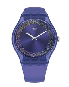 Reloj Swatch Mujer Purple Rings Suov106 Sumergible Silicona