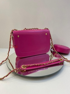 Bolsa Italiana com mini bag Pink na internet