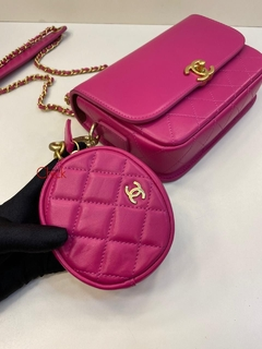 Bolsa Italiana com mini bag Pink