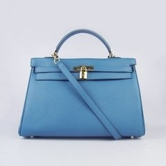 Bolsa Kelly 32 - Azul Gold - Francesa na internet