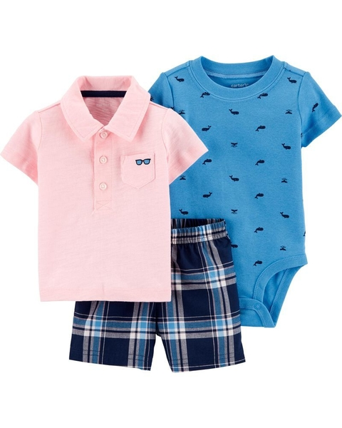Kit com 3 peças - Summer and Beach - Carter's