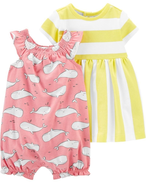 Kit com 2 peças - Dress & Romper Set