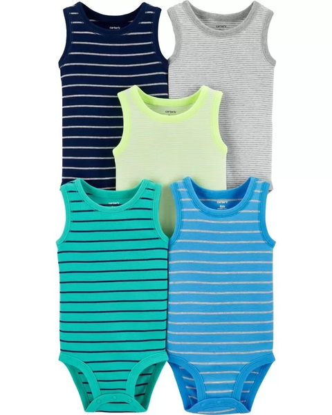 Kit com 5 bodies Regata da Carter's - Summer
