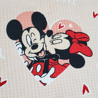 Kit Colcha Casal Piquet Mickey e Minnie Love Queen - Disney - Mickey e Minnie Presentes