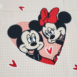 Kit Colcha Casal Piquet Mickey e Minnie Love Queen - Disney - loja online
