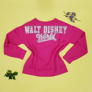 Blusa Moletom Rosa Walt Disney World