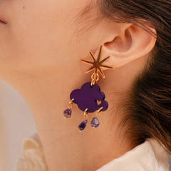 Aretes Purple Rain en internet