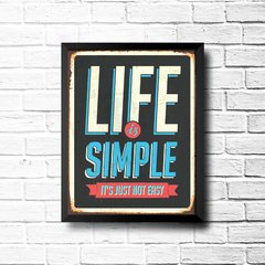 PLACA LIFE IS SIMPLE na internet