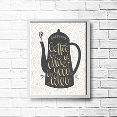 PLACA GOOD MORNING - Art Print Decorações