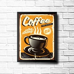 PLACA COFFEE STRONG - comprar online