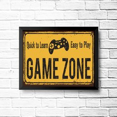 PLACA GAME ZONE - comprar online