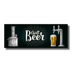 PLACA CRAFT BEER 40x15 cm - comprar online