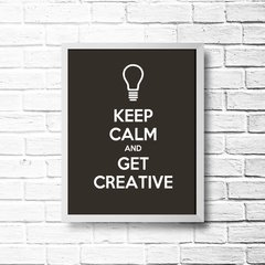 PLACA KEEP CALM AND GET CREATIVE - comprar online