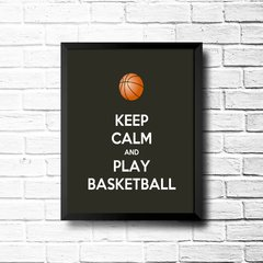 PLACA KEEP CALM AND PLAY BASKETBALL na internet