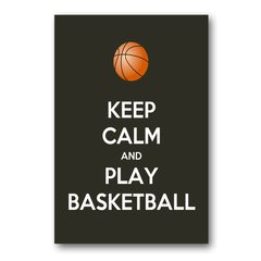 PLACA KEEP CALM AND PLAY BASKETBALL
