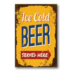 PLACA ICE COLD BEER