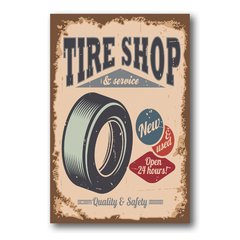 PLACA TIRE SHOP