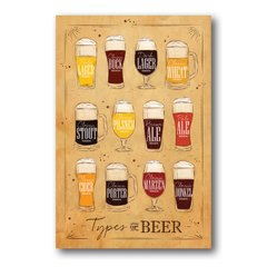PLACA TYPES OF BEER 2