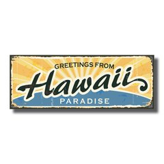 PLACA HAWAII 40x15 cm - comprar online