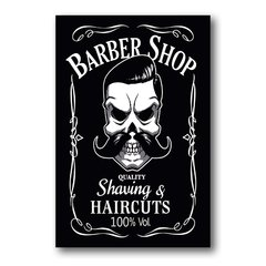 PLACA BARBER HAIRCUTS