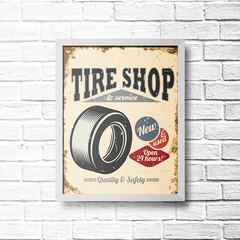 PLACA TIRE SHOP - comprar online
