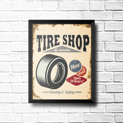 PLACA TIRE SHOP na internet
