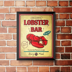 PLACA LOBSTER BAR na internet