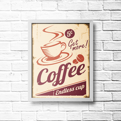 PLACA COFFEE ENDLESS CUP - comprar online