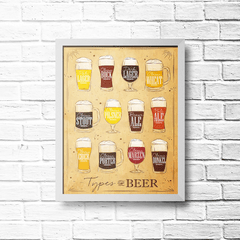 PLACA TYPES OF BEER 2 - comprar online