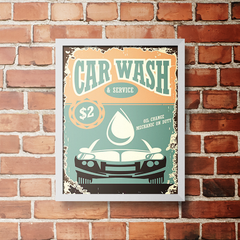PLACA CAR WASH SERVICE - comprar online