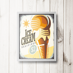 PLACA ICE CREAM DELICIOUS - comprar online